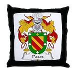 Pazos Family Crest Throw Pillow