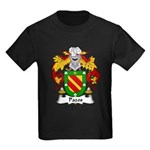 Pazos Family Crest Kids Dark T-Shirt