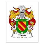 Pazos Family Crest Small Poster