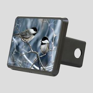 chickadee song bird Rectangular Hitch Cover