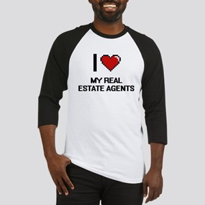 I Love My Real Estate Agents Baseball Jersey