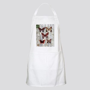shabby chic french butterfly Apron