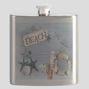 beach coral sea shells  Flask