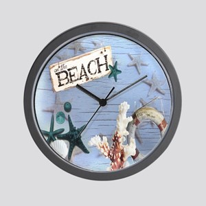beach coral sea shells  Wall Clock