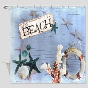 beach coral sea shells  Shower Curtain