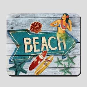 surf board hawaii beach  Mousepad