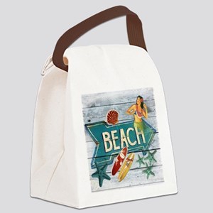 surf board hawaii beach  Canvas Lunch Bag