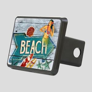 surf board hawaii beach  Rectangular Hitch Cover