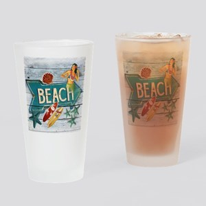 surf board hawaii beach  Drinking Glass