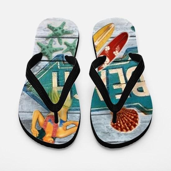 surf board hawaii beach  Flip Flops