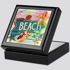 sunrise beach surfer Keepsake Box