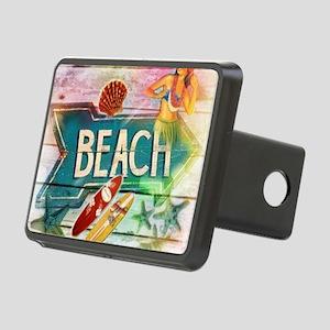 sunrise beach surfer Rectangular Hitch Cover