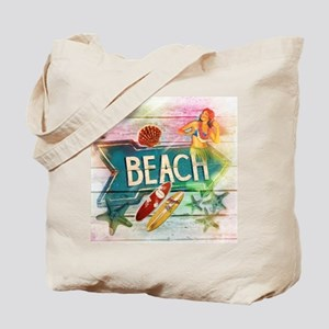 sunrise beach surfer Tote Bag