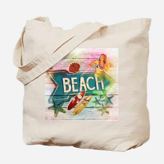 sunrise beach surfer Tote Bag