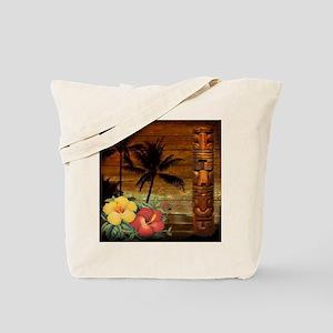 totem Hawaiian Hibiscus Flower Tote Bag