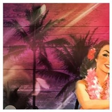 passion flower hawaiian luau  Poster