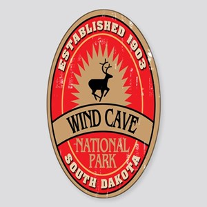 Wind Cave National Park Oval Sticker