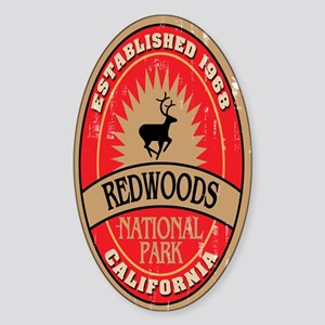 Redwoods National Park Oval Sticker