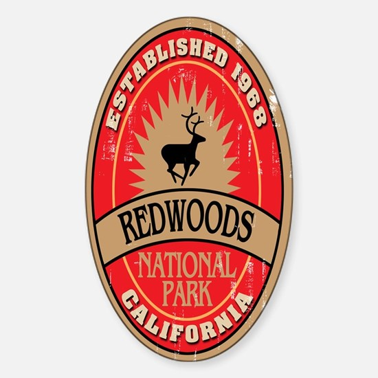 Redwoods National Park Oval Decal