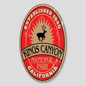 Kings Canyon National Park Oval Sticker