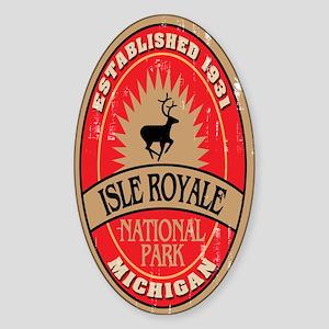 Isle Royale National Park Oval Sticker