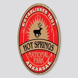 Hot Springs National Park Oval Sticker