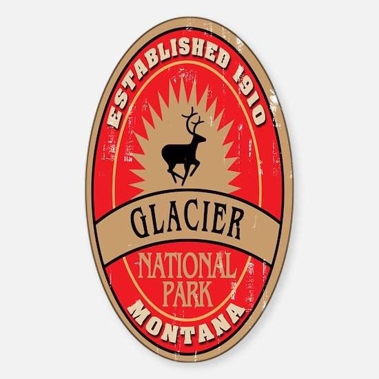 Glacier National Park Oval Decal