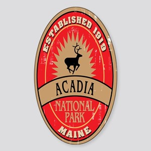 Acadia National Park Oval Sticker