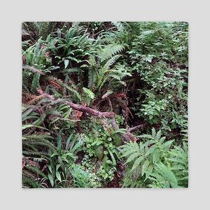 Redwood Rainforest Ferns Queen Duvet