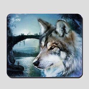 romantic moonlight wild wolf Mousepad