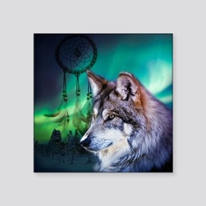 "dream catcher northern ligh Square Sticker 3"" x 3"""