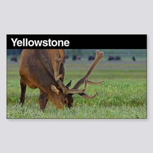 Yellowstone National Park Sticker (Rectangu