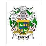 Pascual Family Crest Small Poster