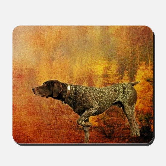 vintage hunting pointer dog Mousepad