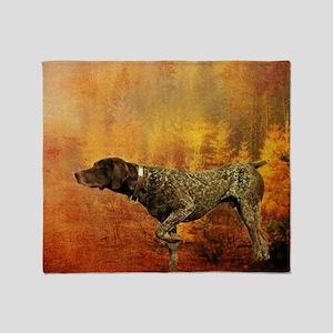 vintage hunting pointer dog Throw Blanket
