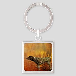 vintage hunting pointer dog Square Keychain