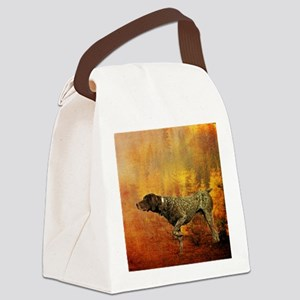 vintage hunting pointer dog Canvas Lunch Bag