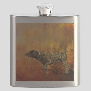 vintage hunting pointer dog Flask