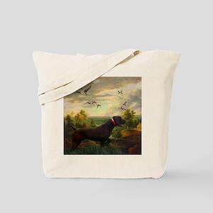 vintage hunting pointer dog Tote Bag