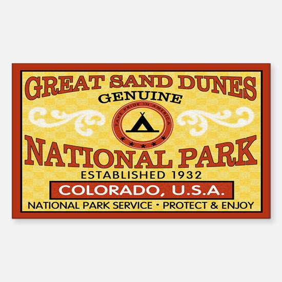 Great Sand Dunes NationalParkRectangle Decal