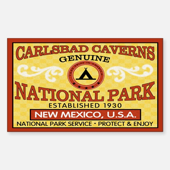Carlsbad Caverns National ParRectangle Decal