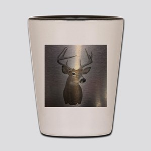 grunge texture western deer Shot Glass