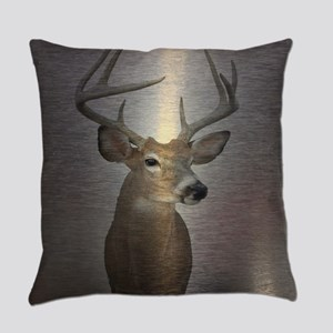grunge texture western deer Everyday Pillow