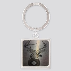 abstract camo pattern deer Square Keychain