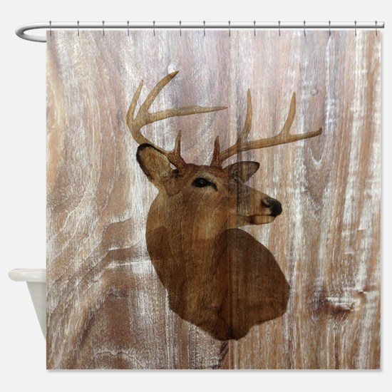 rustic western country deer Shower Curtain