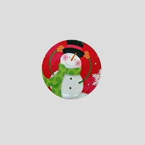 Happy Snowman Mini Button
