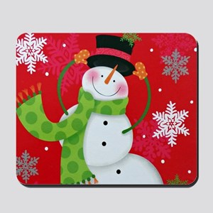 Happy Snowman Mousepad