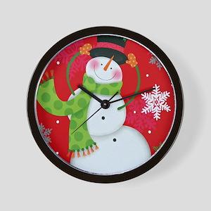 Happy Snowman Wall Clock