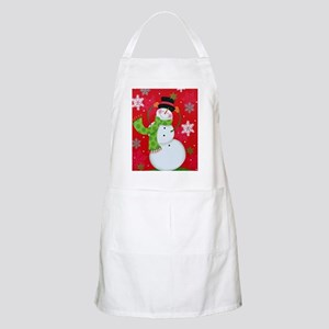 Happy Snowman Apron