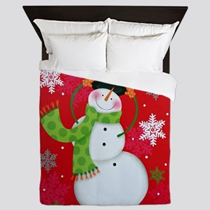 Happy Snowman Queen Duvet